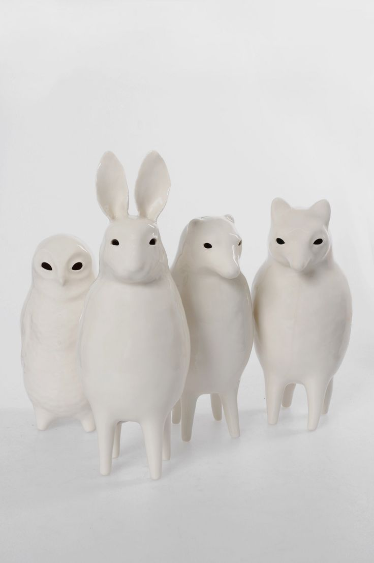 Sophie Woodrow Victorian-inspired porcelain animal sculptures