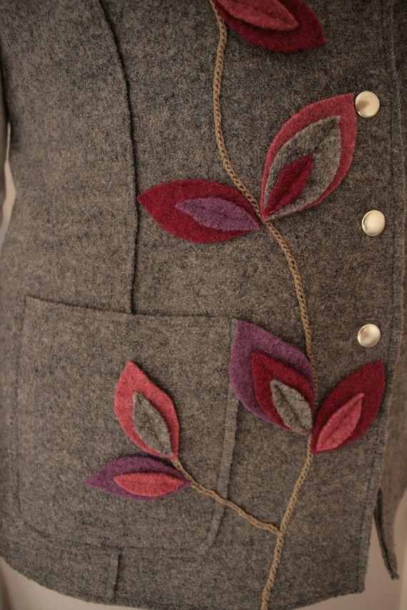 grijze mouwloze jas warm gekookte wol