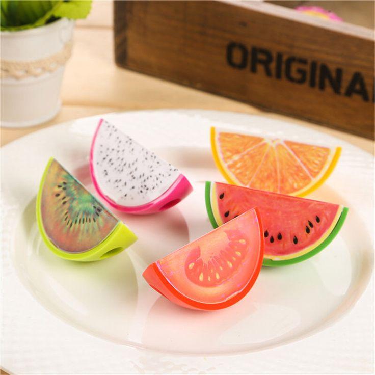 Taille crayon Sharpener - Fruits | Melon d'eau Orange Kiwi du Dragon tomate par GirlyDivaStationery sur Etsy https://www.etsy.com/fr/listing/451029440/taille-crayon-sharpener-fruits-o-melon