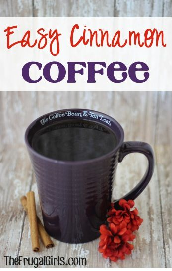 Homemade Cinnamon Coffee! ~ from TheFrugalGirls.com ~ add some festive joy to your next cup of coffee with this trick!  It's so easy and SO delicious! #recipes #thefrugalgirls