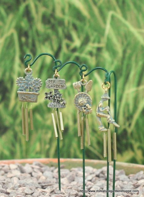 Mini wind chimes...I could DIY with charms, I think....hmmm....cute....