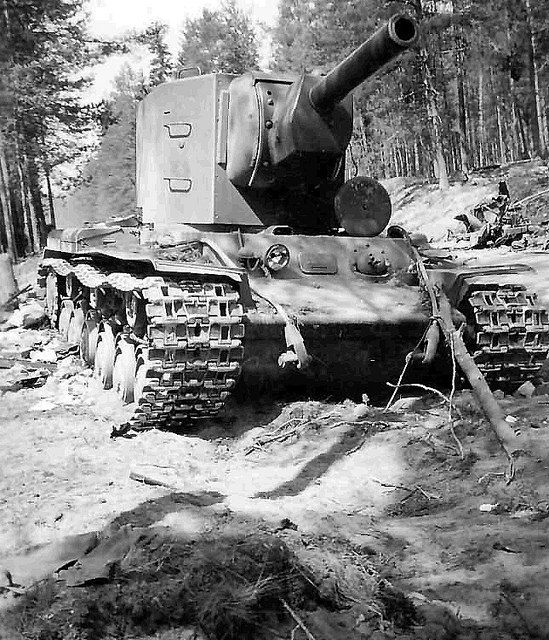 Great photo of a Russian tank KV-2