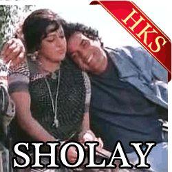 SONG NAME - Koi Haseena Jab  MOVIE - Sholay  SINGER(S) - Kishore Kumar  MUSIC DIRECTOR - R.D. Burman  YEAR OF RELEASE - 1975  CAST - Dharmendra, Amitabh Bachchan, Sanjeev Kumar, Hema Malini, Jaya Bachchan, Amjad Khan