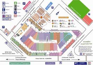 Comment se repérer au marché de Chatuchak lors d'une escapade shopping à Bangkok, Conseils shopping, plan du marché pour aller à Chatuchak