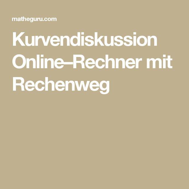 Kurvendiskussion Online–Rechner mit Rechenweg