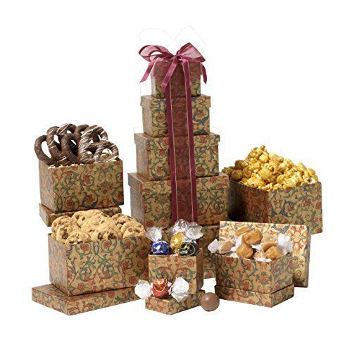 Broadway Basketeers Thinking of You Gift Tower - http://mygourmetgifts.com/broadway-basketeers-thinking-of-you-gift-tower/