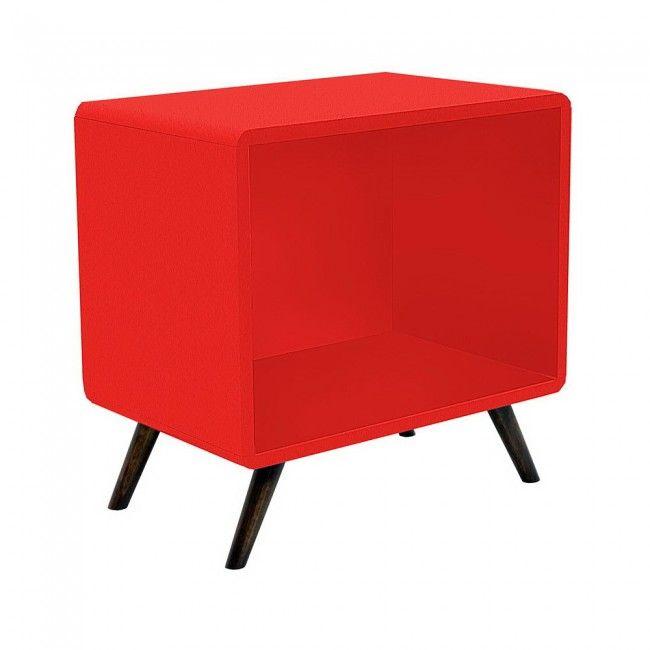 Criado Mudo com fundo Vermelho - R$ 390,00