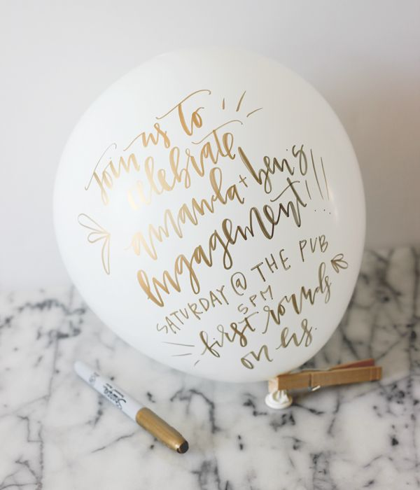 DIY Tutorial: Balloon Party Invitation and Mini Cocktail Kit by A Fabulous Fete for Oh So Beautiful Paper
