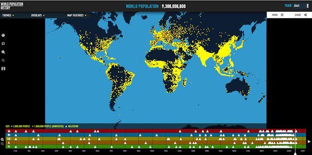 Crea y aprende con Laura: #Mapa interactivo y vídeo de la #Población Mundial...