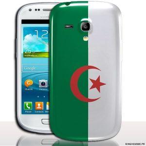 Coque samsung galaxy s3 mini Algerie - Housse Silicone - Coque rigide. #Coque #Algerie #drapeau #s3 #mini #i8190 #cover #case