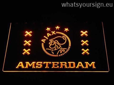 Ajax Logo 2 - LED neon sign light display made of the premium quality clear acrylic and intense colorful LED lighting. The neon sign displays exactly the same from all angles thanks to the carving with the newest 3D laser engraving process. This LED neon sign is a great gift idea! The neon is provided with a metal chain for displaying. Available in 3 sizes in following colours: Orange, Yellow, Purple, White, Green, Blue and Red!