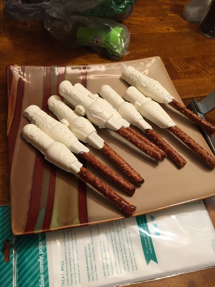 Halloween pretzel rods for Max's class