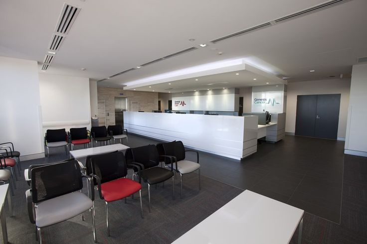 VISMET waiting chairs. Genesis Cancer Care reception area by Burgtec.