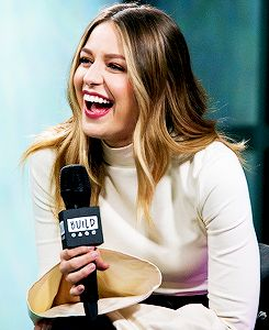 Melissa Benoist attends AOL Build to discuss 'Supergirl' and 'Patriots Day' at Build Studio on January 23, 2017 in New York City.