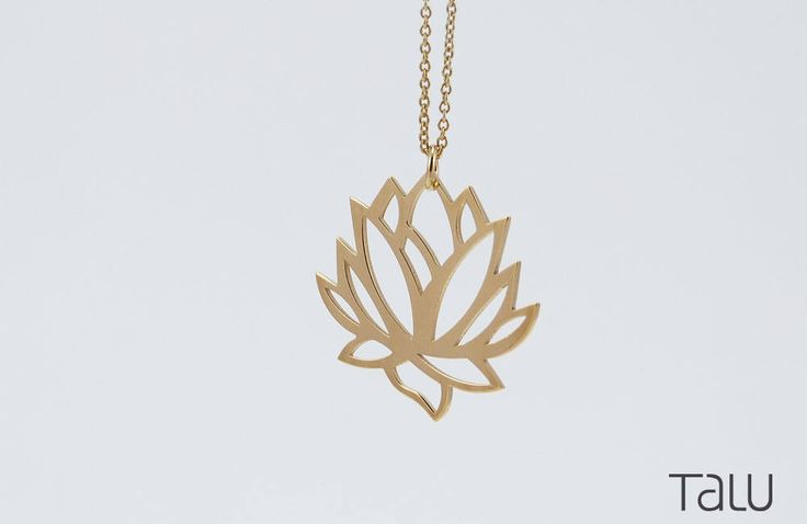A personal favourite from my Etsy shop https://www.etsy.com/listing/532858831/lotus-necklace-yoga-style-solid-gold