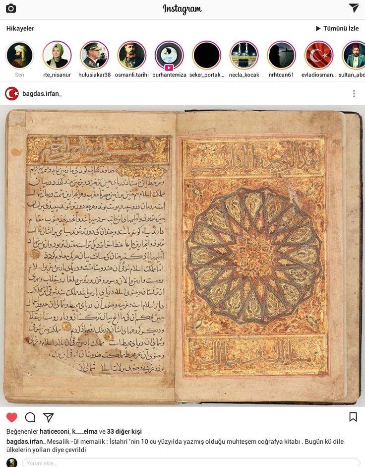 Mesalik -ül memalik : İstahri 'nin 10 cu yüzyılda yazmış olduğu muhteşem coğrafya kitabı . Bugün kü dile ülkelerin yolları diye çevrildi