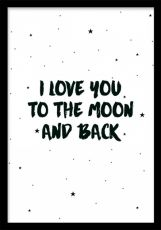 Moon and back, prints
