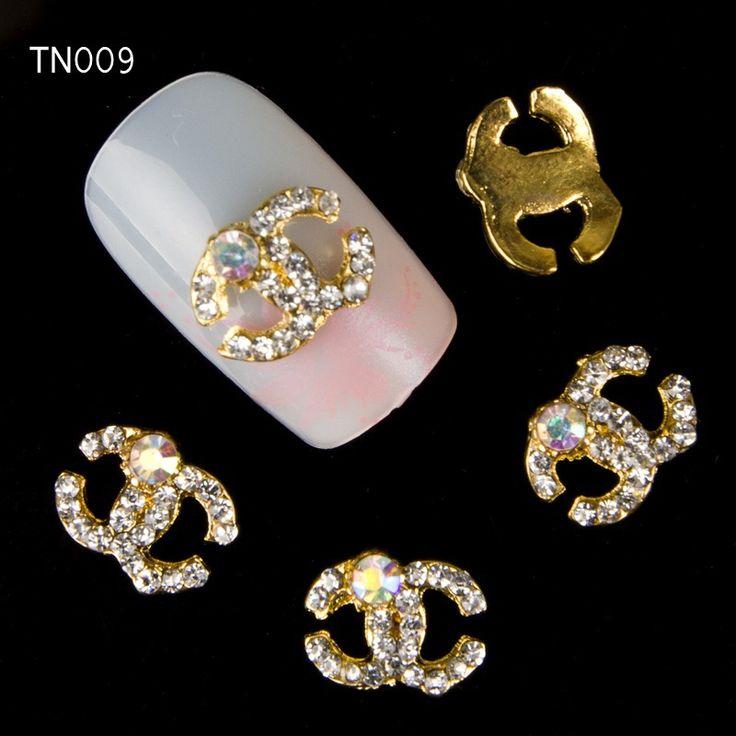 20 pcs/pack 3d arcs à ongles décorations art diamond cc clous, art noeud papillon paillettes strass bijoux goujons. tn009 pour nail art