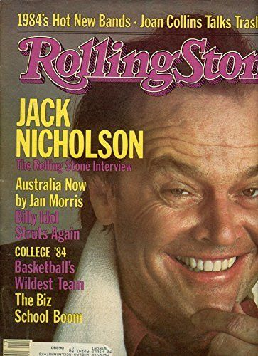 March 29, 1984 Rolling Stone Magazine- JACK NICHOLSON The Rolling Stone Interview