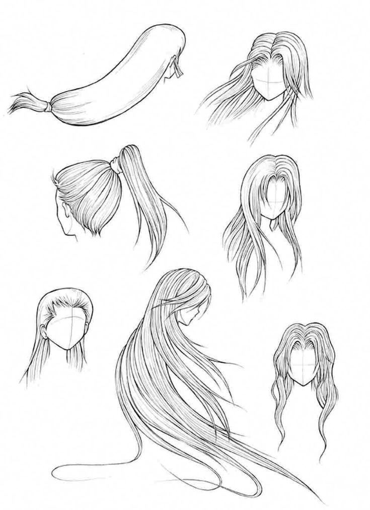 Long Straight Hair Draw Straight Hairstyles Draw Straight Hairstyles For Round Faces Straight In 2020 Drawing Tutorial Drawing Tutorials Online