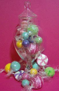 Let's make some fake candy! (No calories.) Seriously, making these for a Sugar Plum Tree with some other things I've found.