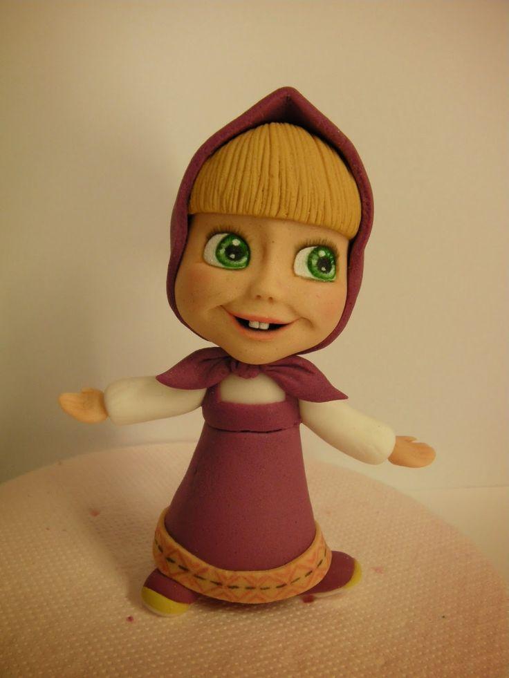 """Studio """"FONDANT DESIGN ANA"""" - Figurice za torte (fondant figures): MASA I MEDVED"""