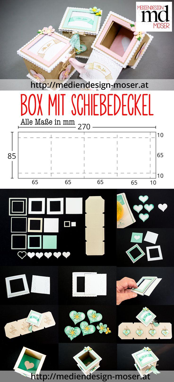 Box mit Schiebedeckel - mit Bastelanleitung als PDF