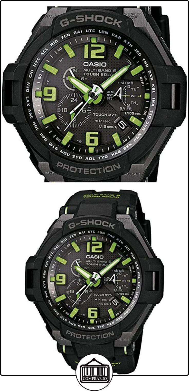 Casio GW-4000-1A3ER - Reloj analógico de cuarzo para hombre, correa de resina color negro (alarma, cronómetro, cuenta atrás)  ✿ Relojes para hombre - (Gama media/alta) ✿