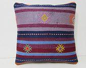 "oriental pillow case 18"" kilim pillow cover unique decorative pillow sham gift throw pillow turkish cushion cover rustic throw pillow 28047"