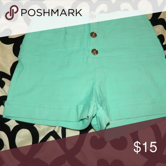 mint green shorts smoke free home.worn once. Shorts