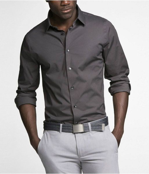 If you don't want to wear a blazer with your collared shirt, your shirt MUST be fitted (so it doesn't billow out away from your sides) and medium-tone colors work best (not white or lighter colors), with the sleeves rolled up.