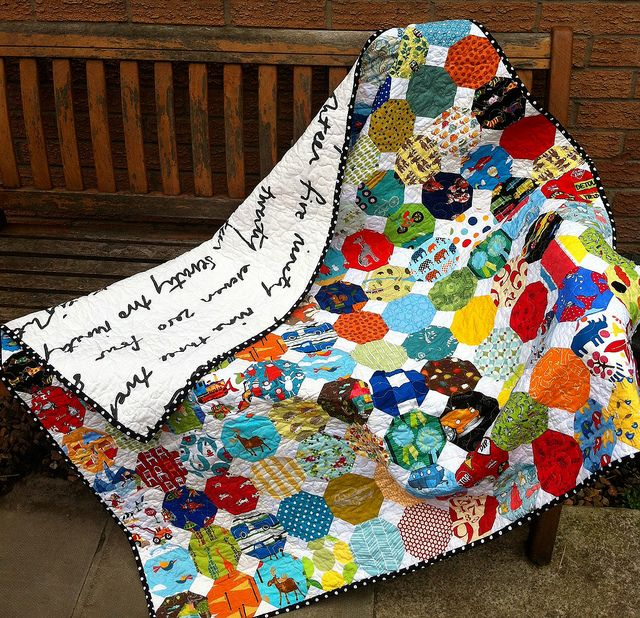 I Spy Snowballs finished! by Fiona @ Poppy Makes, via Flickr: Hexagon Quilts, Spy Quilt, Beautiful Quilts, Quilt Ideas, Spy Snowballs, Diy, Baby Quilt, Snowball Quilts, Crafts Quilts