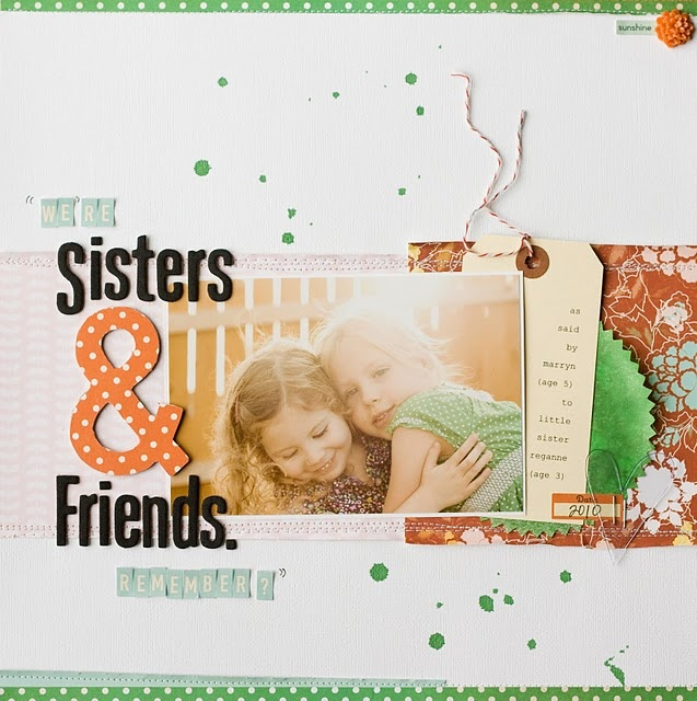 http://joeandkelsey.blogspot.com/Scrapbook Ideas, Scrapbook Inspiration, Friends Layout, Studios Calico, Friendship Layout, Beautiful Layout, Easy Layout, Scrapbook Layout, Kelsey Poll