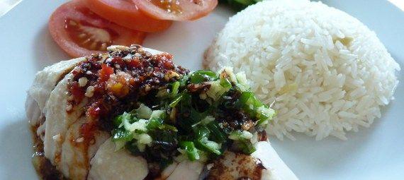 Hainanesisk kylling med ris