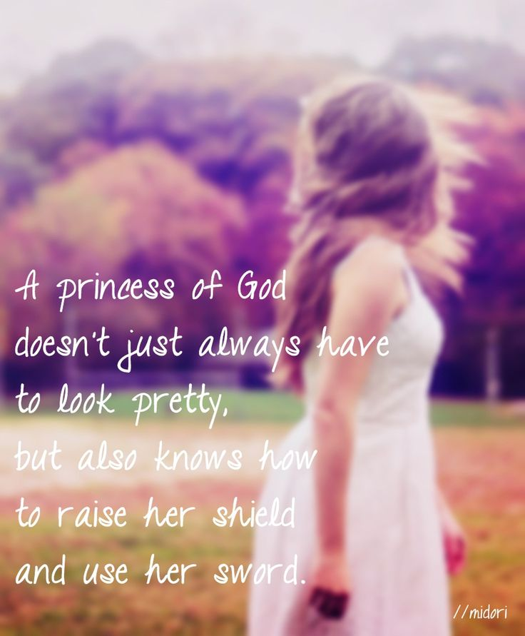 A princess of God doesn't just always have to look pretty, but also knows how to raise her shield & use her sword.