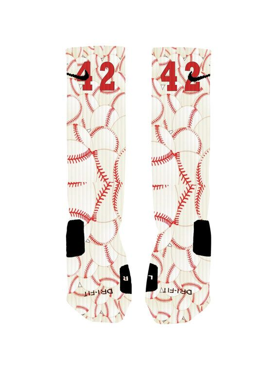 Custom designed baseball socks with reinforced toe and heel for extra comfort and support. Add you number to the socks to make them one of a