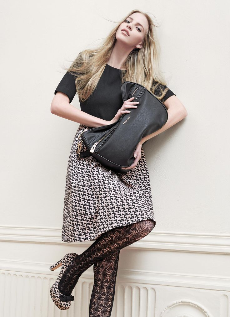 TWIN-SET Simona Barbieri: hobo bag with scalloped detailing and court shoes in jacquard fabric with heart motif