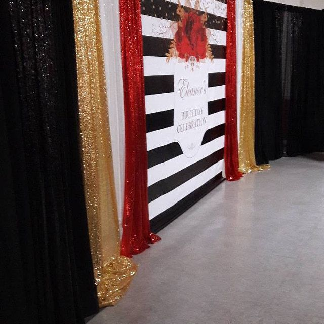 Image Result For Elegant Black Tie Event Photo Backdrop Party Food Themes Black Tie Event Gold Backdrop