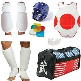 Belts and Sashes 73981: Complete Cloth Sparring Gear Set W Bag - Black - Child-Large -> BUY IT NOW ONLY: $74.28 on eBay!