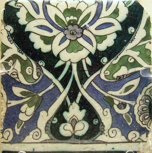 Syrian tile, british museum