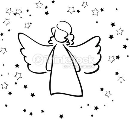 Vector Art : Angel and Stars