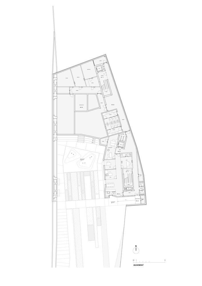 Byblos Town Hall,Basement Plan