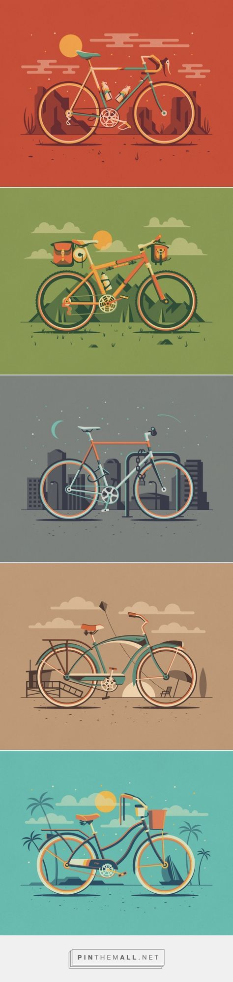 Explorers Club: Cyclist Series — DKNG Vector bicycles illustrations