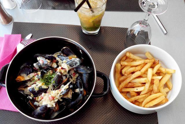 moules frites, restaurant, sainte marie sur mer, bullelodie http://www.bullelodie.com/2015/06/potins-149.html