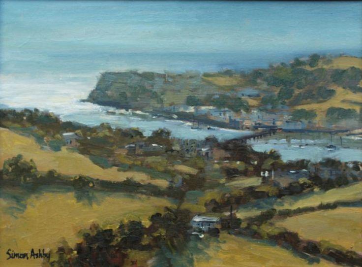 "Teign Estuary, 12 x 16"", Oil -"