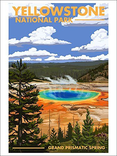 Yellowstone National Park - Grand Prismatic Spring (9x12 Art Print, Wall Decor Travel Poster) Lantern Press http://www.amazon.com/dp/B00N5CHK1M/ref=cm_sw_r_pi_dp_wjlGwb1335VM0