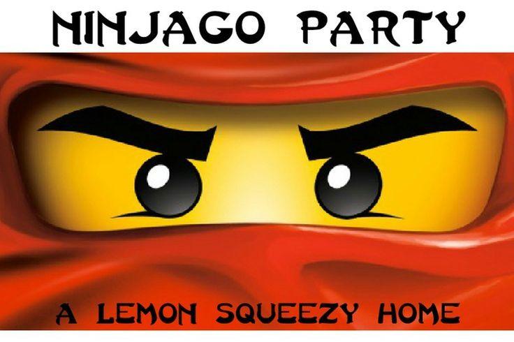 Lego Ninjago Birthday Party Ideas  via a Lemon Squeezy Home