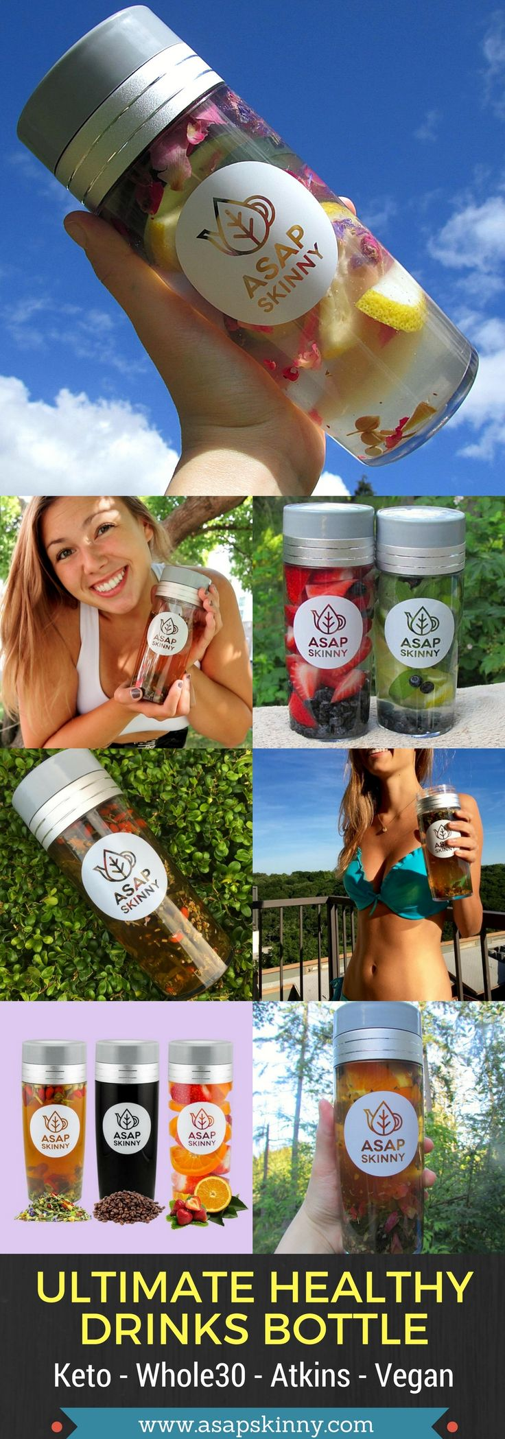 Finally Back In Stock! Are You Always On-The-Go? Keep Yourself Healthy & Hydrated With This Awesome Travel Healthy Drinks Bottle For Infused Fruit Water Drinks, Coffee, Herbal Tea, Green Tea, Oolong Tea, Loose Leaf Tea And Much More! Kickstart Your New Healthy Lifestyle With ASAPSKINNY Starting TODAY. You Will Also Receive A FREE Removable Mesh Strainer/Steeper With Your Purchase! Perfect for Atkins - Keto - Whole30 - Vegan Lovers. Selling Out FAST! SHOP NOW ➡➡➡ www.asapskinny.com