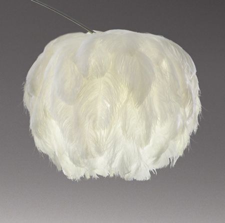 South African designer Haldane Martin showed two lamps with ostrich-feather shades at the Design Indaba Expo in Cape Town