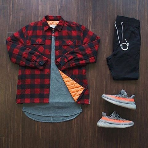 WEBSTA @ frenchoutfit - Outfit by : @quicksit24• Tee : #Killionest• Flannel : #Fog• Pant : #Hm• Kicks : #YeezyBoost350v2Don't forget to tag us and use the hashtag #FrenchOutfit to be repost…